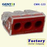 Conector enchufable del bloque de terminales de alambre del resorte de 2 Pin