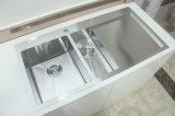Drainer를 가진 Topmount Handmade Stainless Steel Kitchen Sink