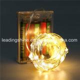 電池式屋内使用50暖かく白い妖精の星明かりのストリングライト銅線3AA