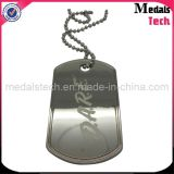 Die Cast Custom Metal Heart Shape Diamond Dog Tags Collier