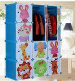 Kind-Ablagekasten-Plastikwandschrank-nützliche Großhandelsgarderoben