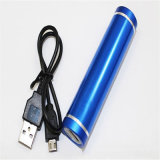 2000mAh Tube Shape Mobile Power Bank com lanterna Carregador de celular