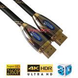 Мужчина кабеля раковины HDMI металла к мыжской поддержке 4k/3D