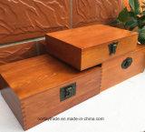Caja de madera fina de madera con Bloqueo caja de almacenamiento de certificados Diploma y Medalla