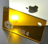 Venta al por mayor de acrílico plástica de la hoja del espejo flexible del oro
