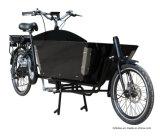 Langes Ladung-Fahrrad John-Bakfiets mit Energien-Vorlage