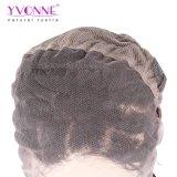 Couleur de la perruque 1B de lacet d'onde de 100% pleine de cheveu brésilien profond de Vierge