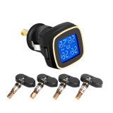 LCD van het ControleSysteem van de Druk van de Band van de Auto TPMS Draadloze Vertoning 4 de Interne Sigaret Lighte van Sensoren