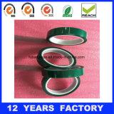幅: 50mmの厚さ: 0.06mmの長さ: 33m緑の単一の味方された高温耐熱性ペットテープ