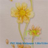 Papel pintado decorativo del vinilo del PVC, nuevo diseño