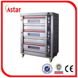 Commercial Deck Oven India, 3 Deck 6 bandeja de horno eléctrico