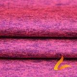 Tela elástico hecha punto de Lycra del Spandex del poliester para la aptitud de la ropa de deportes (LTT-DAYGYZB#)