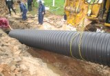 Большие HDPE стальной полосы усиленные полиэтиленовые пластиковую гофрированную трубу
