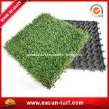 China-Lieferant, der künstliche Gras-Fälschungs-Rasen-Fliese blockiert