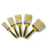 La miscela bianca professionale della setola ha laccato la spazzola piana della maniglia di plastica (GMPB007)