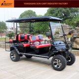 セリウムは6つのシート後部フリップシートが付いている電気ハンチングゴルフカートを承認した