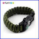Überleben Paracord Armband des Armee-Grün-550