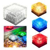 Buntes angeschaltenes beleuchtendes Auton Eis-Ziegelstein-Glas-Tiefbausolarlicht