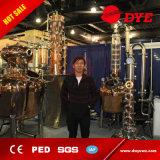 Vidro de cobre vermelho Industrial Flauta coluna de destilação de álcool