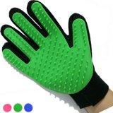 Zutreffender Note Deshedding Handschuh für den leichten leistungsfähigen Haustier-Hundekatze-Pflegenhandschuh-Pinsel-Handschuh, der den Handschuh-Hilfsmittel-Haustier-Haar-Remover-Haustier-Massage-Handschuh badet Pinsel COM verschüttet