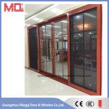 Fait dans la porte coulissante en aluminium de la Chine avec le modèle de gril