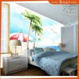 Sonnenschein-Strand-Kokosnuss-Baum-blaues Seeschöne Landschaft für Dekoration-Ölgemälde