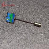 Kundenspezifisches Decklack-Firmenzeichen-Goldmetalllange Nadel-Revers-Stifte