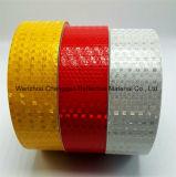 Nastro riflettente di evidenza del PVC con la pellicola della grata di cristallo