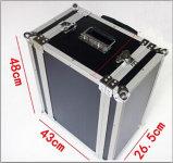 Aluminiummetallkann harter Hilfsmittel-Kasten von den oberen und untereren Teilen entfernt werden