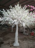 Flor de durazno blanco árbol artificial flores de seda de la boda Cherry Tree