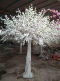 Árvore de flor de pêssego artificial branco Flores de Seda Casamento Cherry Tree