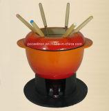 LFGB, CE, FDA, SGS de fondue de chocolate de hierro fundido con 6 horquillas