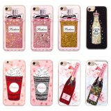 Sequins Wine Perfume Bottle Transparent PC Crystal Phone Case for iPhone 7 7s 6 6s Plus