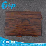 Панель деревянного зерна алюминиевая одностеночная для потолка и плакирования