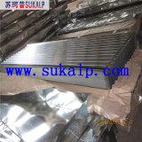 Hoja acanalada del material para techos