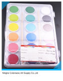 torta del color de agua 2.8cm*18colors para los cabritos y los estudiantes (color blanco)