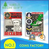Pièce de monnaie de logo d'émail d'armée personnalisée par modèle d'approvisionnement d'usine de gravé en relief