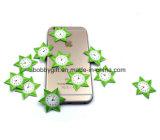Etiqueta engomada linda de la pantalla del teléfono móvil del silicón del producto de limpieza de discos de Microfiber