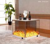 Aprobado CE MDF Mueble de casa chimenea eléctrica de luz LED (T-309)