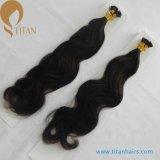 Extensões lisas do cabelo da ponta da queratina indiana do cabelo humano de Remy