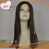Spitzenverkaufenart-Menschenhaar-Frauen-Perücke-Typ 100% Brown-Farben-Perücke