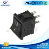 ViereckKcd2-202 4 Pin-elektrischer Miniwippenschalter