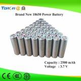 Nachladbare Batterie 2500mAh 3.7V der Qualitäts-heiße Produkt-Vorlagen-18650