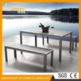Jogo de alumínio da tabela da cadeira de Polywood do Wiredrawing ao ar livre simples novo da mobília do jardim do estilo