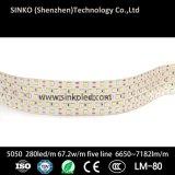 明るく強力な5050 280LEDs/M 6650~7182lm/M LEDの照明ストリップ