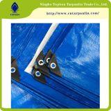 中国のPEの防水シートの工場多シート170GSMの青い薄板にされた防水シート