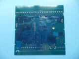 PWB del oro de la inmersión azul Soldermask de la tarjeta de circuitos impresos de 4 capas