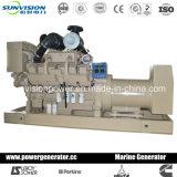 700kw resistente Genset marina con Cummins Engine, generador diesel con CCS
