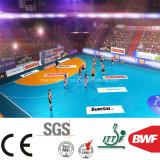 Le vinyle bleu-clair doucement d'intérieur de handball de qualité folâtre l'étage 6.5mm