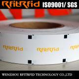 Passif de fréquence ultra-haute Anti-Déchirant le tag RFID de papier lustré